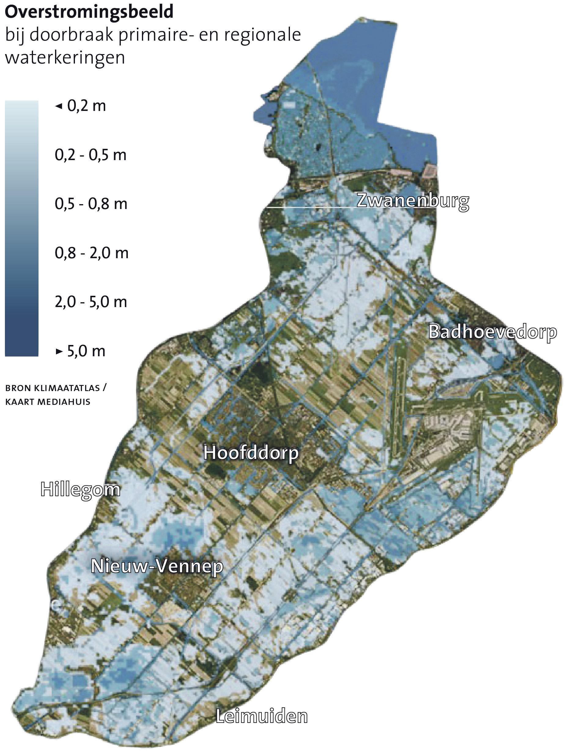 Raar maar waar: als de dijken breken loopt Haarlemmermeer niet vol met water