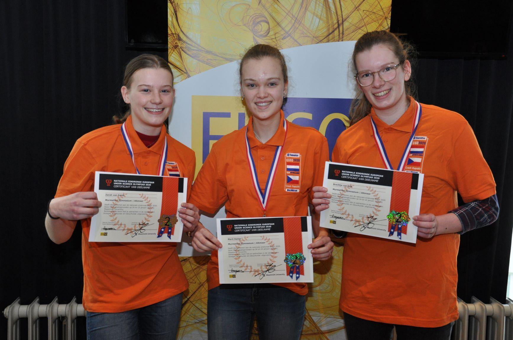 Vwo-leerlingen van Murmellius Gymnasium in Alkmaar gaan naar Europese wetenschapsolympiade in Tsjechië