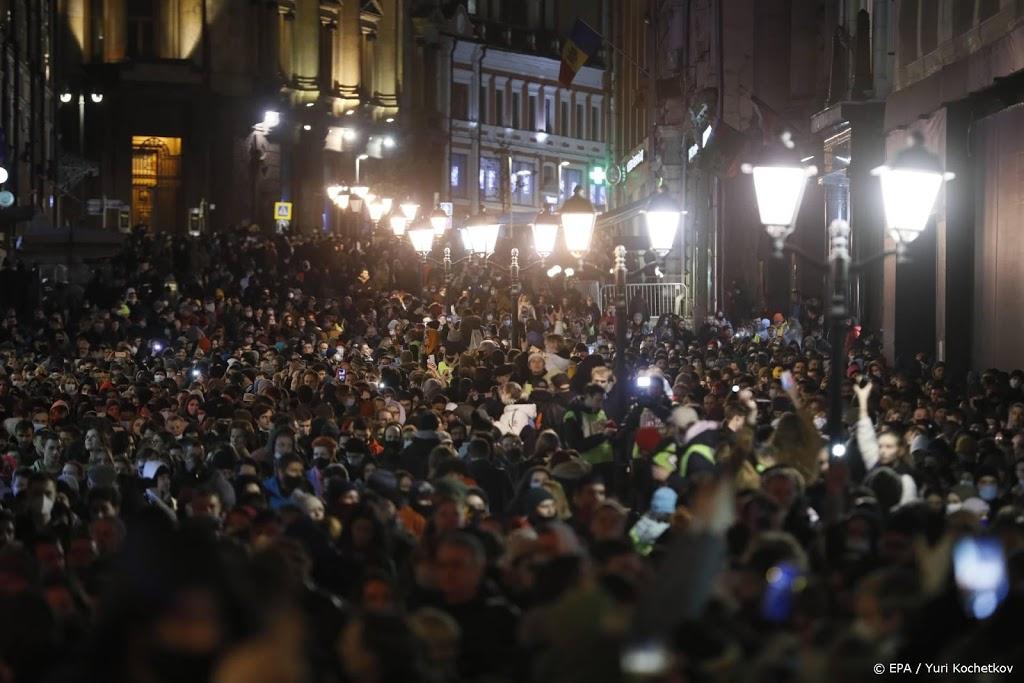 Bijna 1500 Navalni-aanhangers vast na illegale protesten Rusland