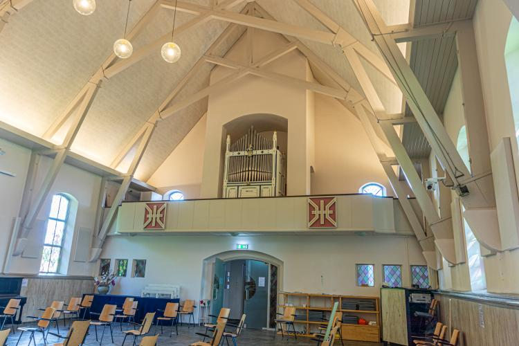 Concert met 'nieuwe' pijporgel in De Samenstroom; Ivimey & Cooper dateert uit 1860 en kwam via Southampton en Schellinkhout naar kerk in Wieringerwerf