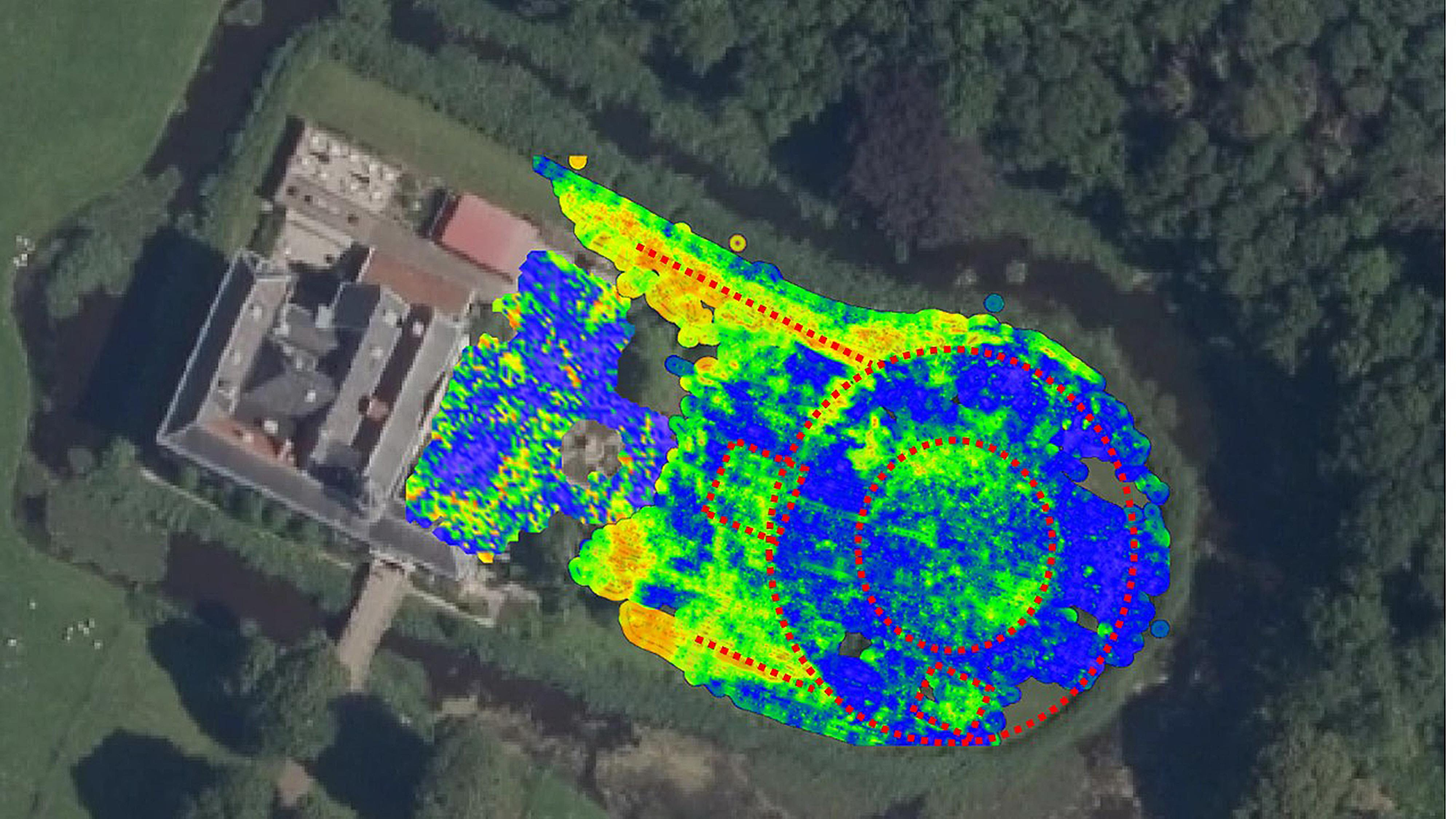 Het fraaie landgoed Marquette in Heemskerk was ooit een machtig bolwerk. Dankzij radartechniek komt de burcht 'bovengronds'. 'Het kasteel moest de Friezen op afstand houden'