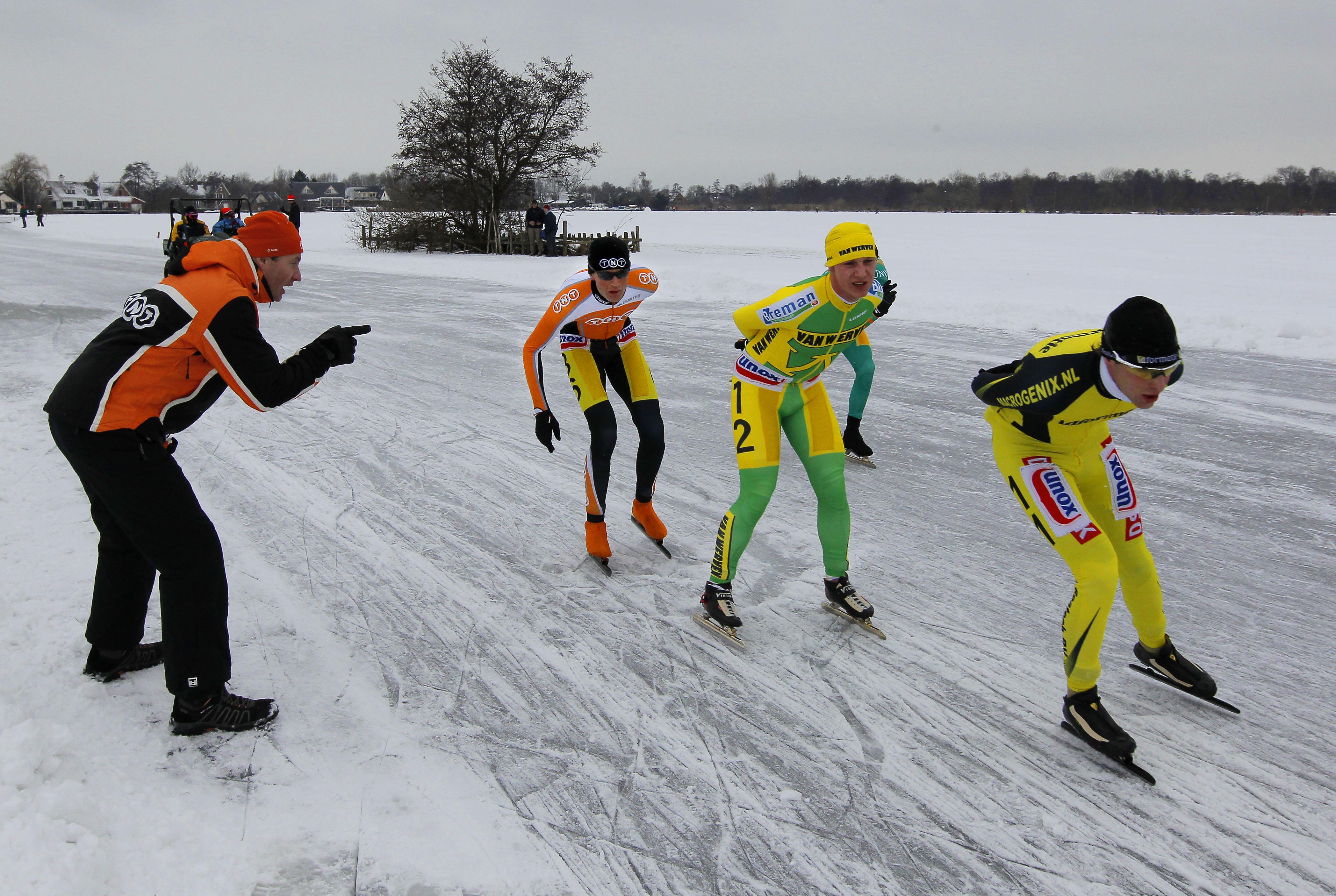 Voorzitter lokale ijsclub ontkent: Loosdrechtse Plassen (nog) niet nadrukkelijk in beeld voor NK schaatsen op natuurijs. 'Voorlopig nog slechts een droom'