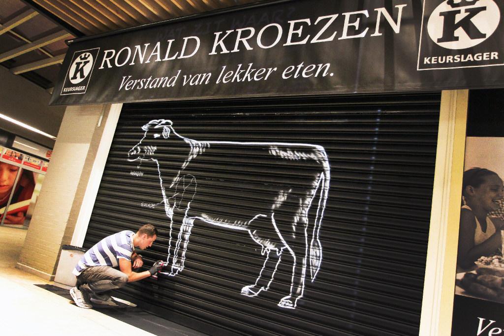 Hoofddorpse slager Ilja is ook graffiti-artiest