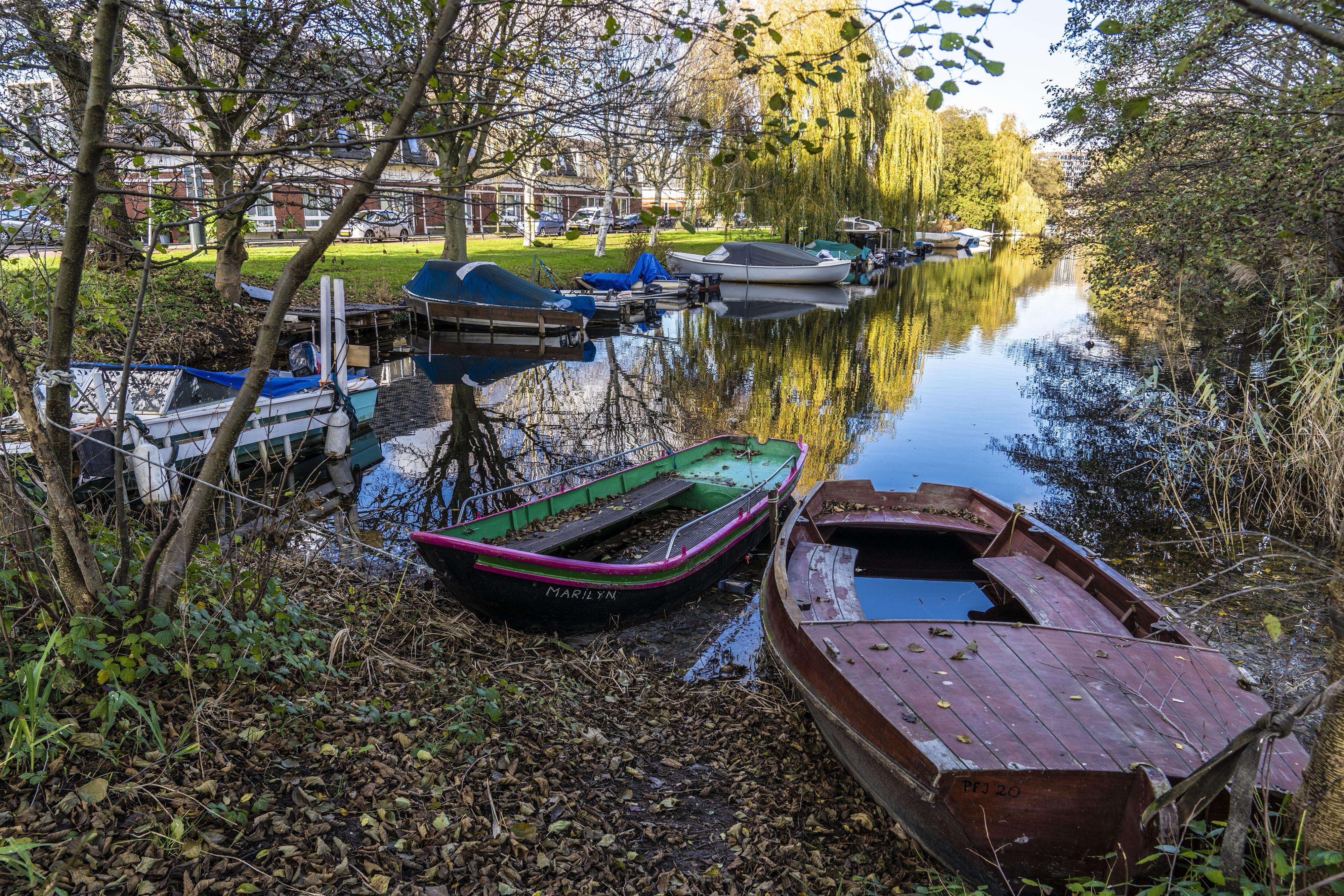 Illegaal binnenhaventje Potgieterlaan wordt, als het aan de PvdD Leiden ligt, geheel ontmanteld
