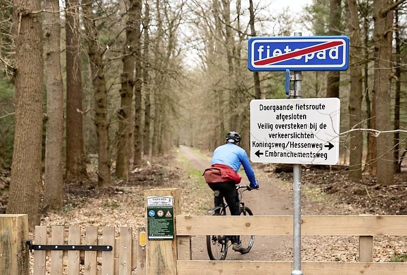Per Insinger van landgoed Pijnenburg is helder: 'Als je een fietsroute wil moet je bij Staatsbosbeheer en de gemeente Baarn zijn, de alternatieven zijn er gewoon'