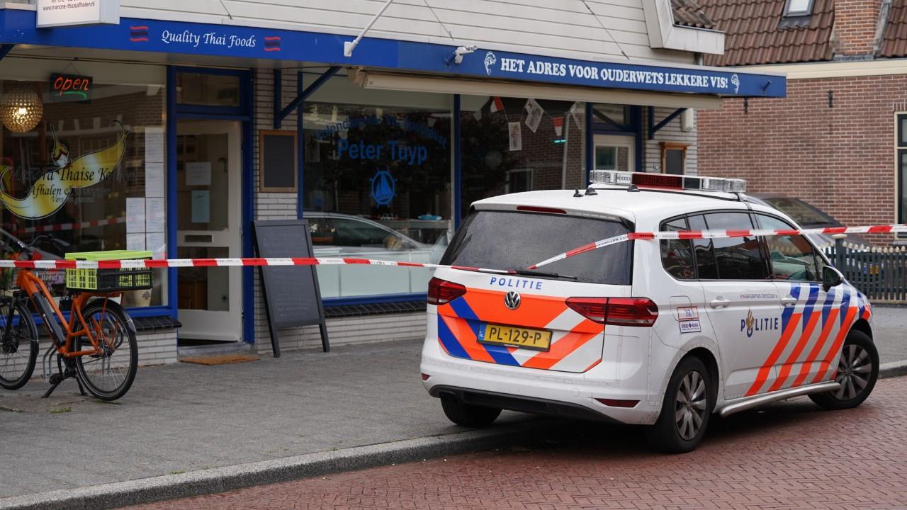 Overval op Thais restaurant in Oudorp, politie zocht met speurhond en helikopter naar dader