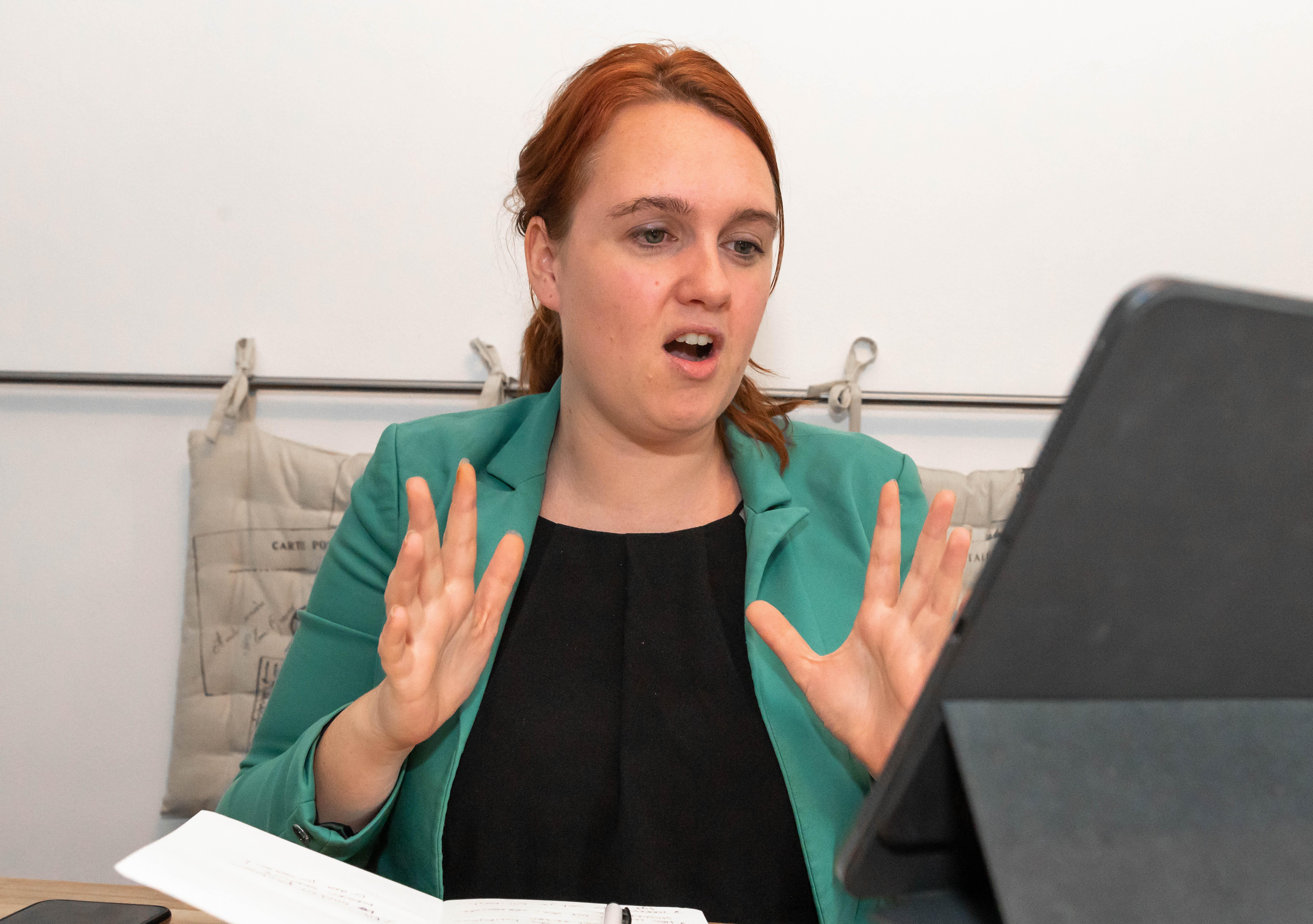 Stephanie Onclin wilde van kinds af aan al in discussie maar hoeft niet altijd gelijk te hebben