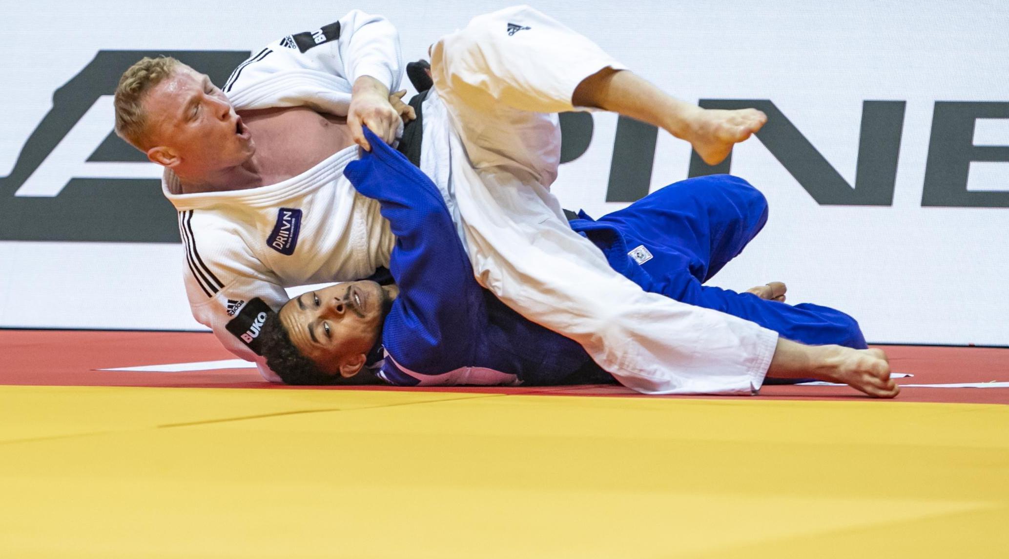 Frank de Wit grijpt net naast medaille op EK judo