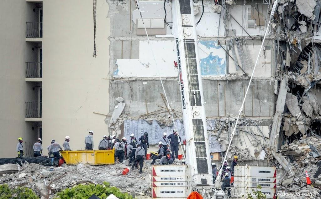 Zoeken naar overblijfselen slachtoffers flatgebouw Miami gestaakt