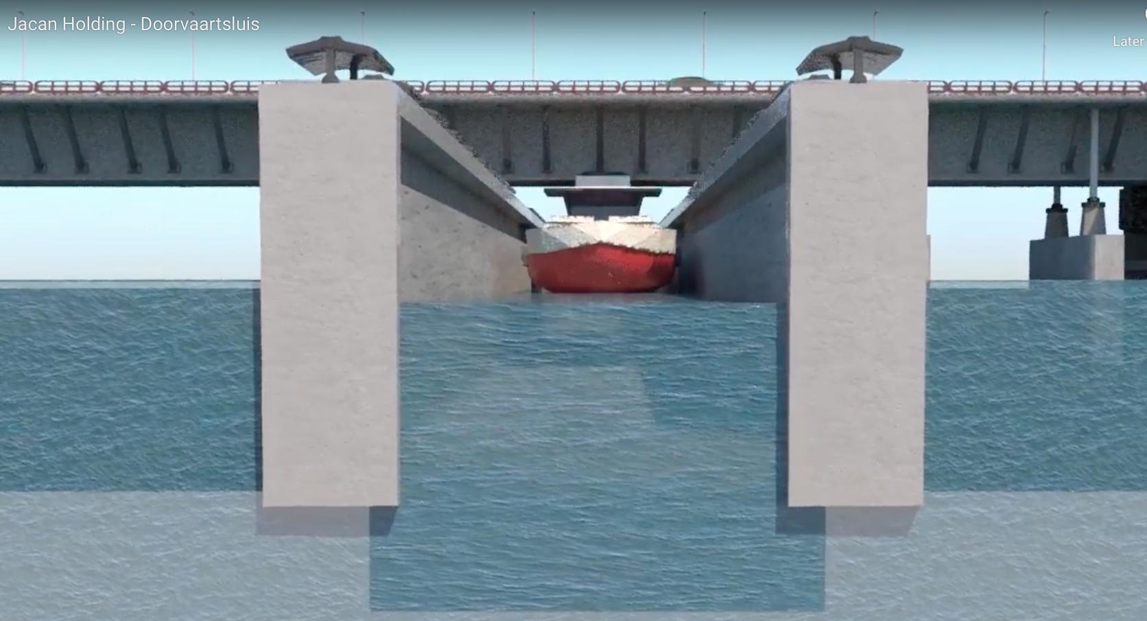 Nooit meer files vanwege geopende bruggen: het kan met de 'doorvaartsluis' van Alkmaarder Jac van Ham [video]