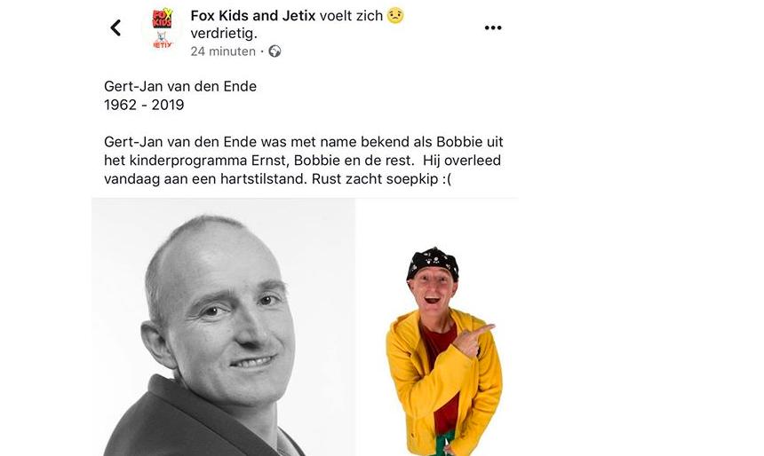 Redacteur ontslagen na hoax overlijden Bobbie