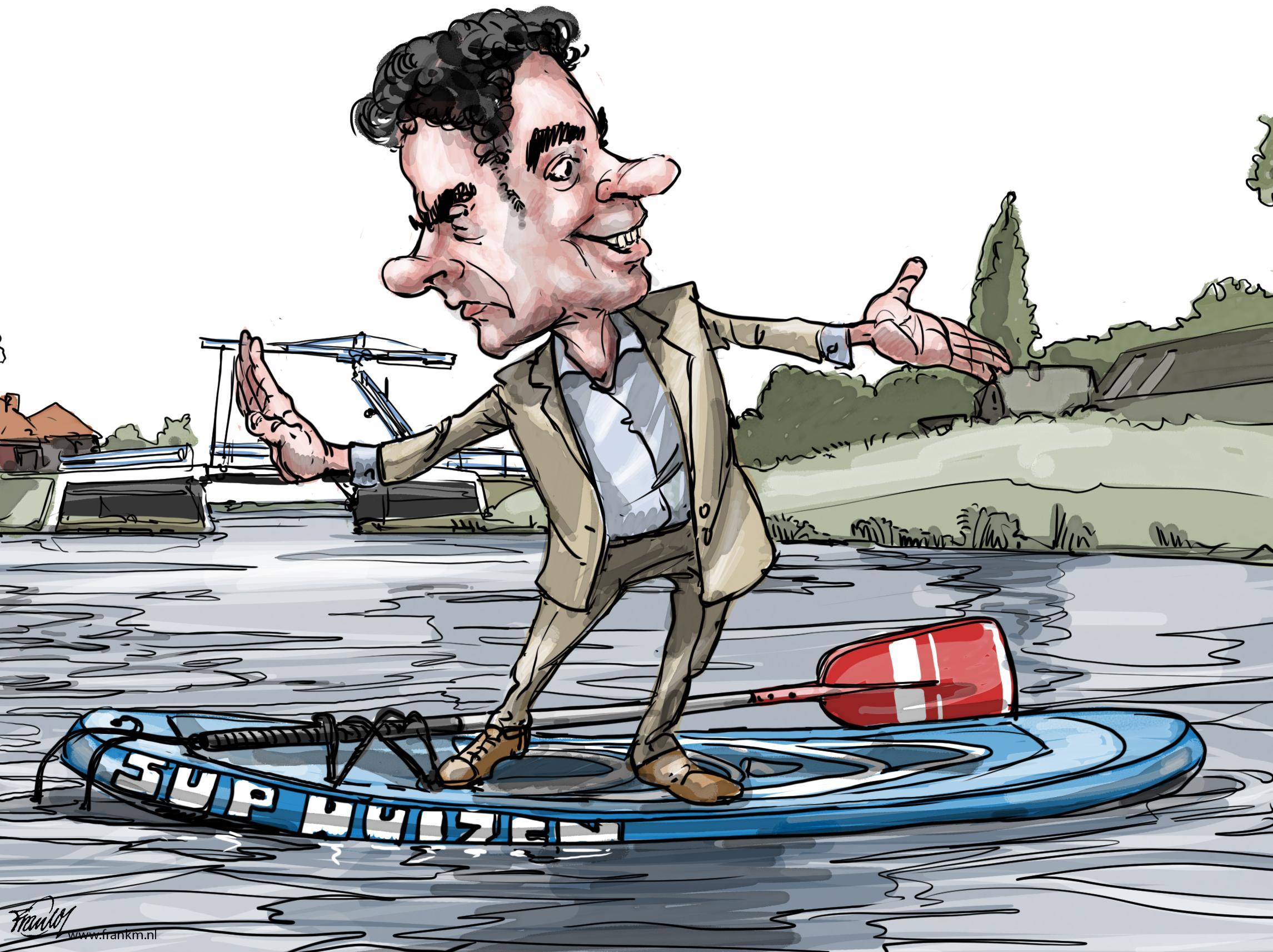 Wat is de les uit de Huizer sup-affaire? Gewoon, wees blij als het moet, maar streng als het kan!   cartoon Frank Muntjewerf