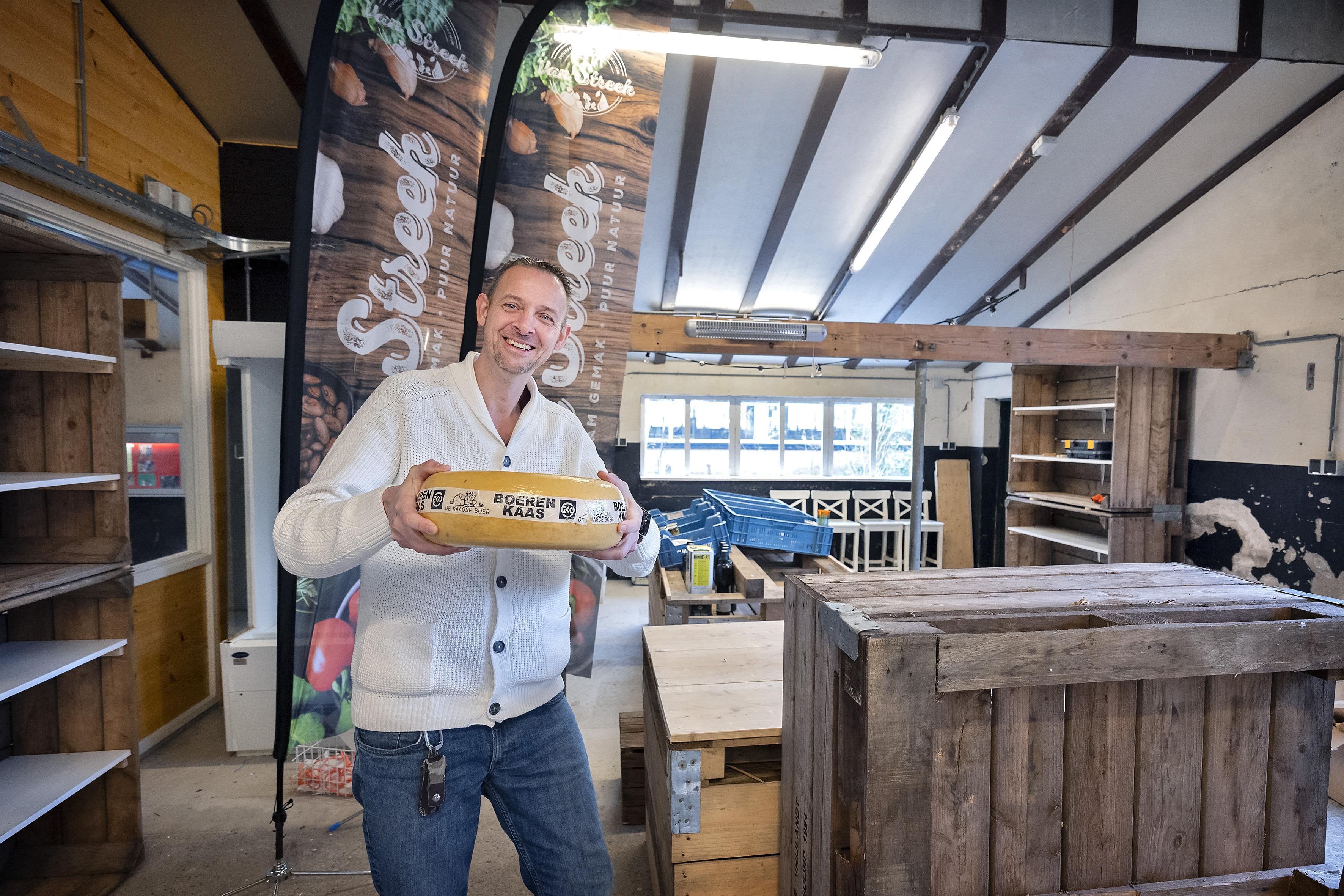 Winkel in informartieboerderij Zorgvrij in Velsen-Zuid: streekproducten bij Van Streek