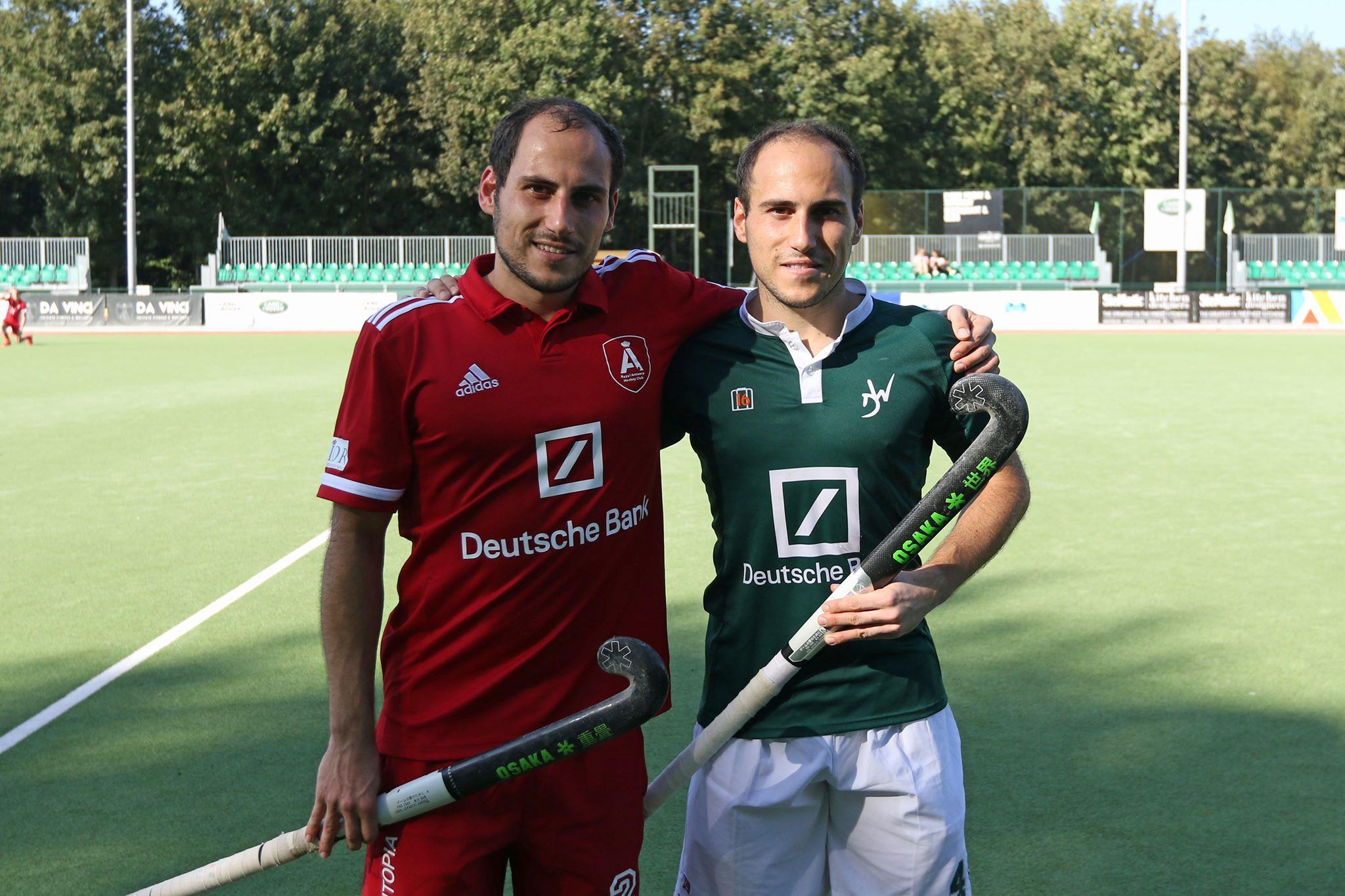 De tweeling wordt weer verenigd: Pieter en Niels van Straaten uit Leiderdorp hockeyen komend seizoen samen bij het Belgische Royal Antwerp