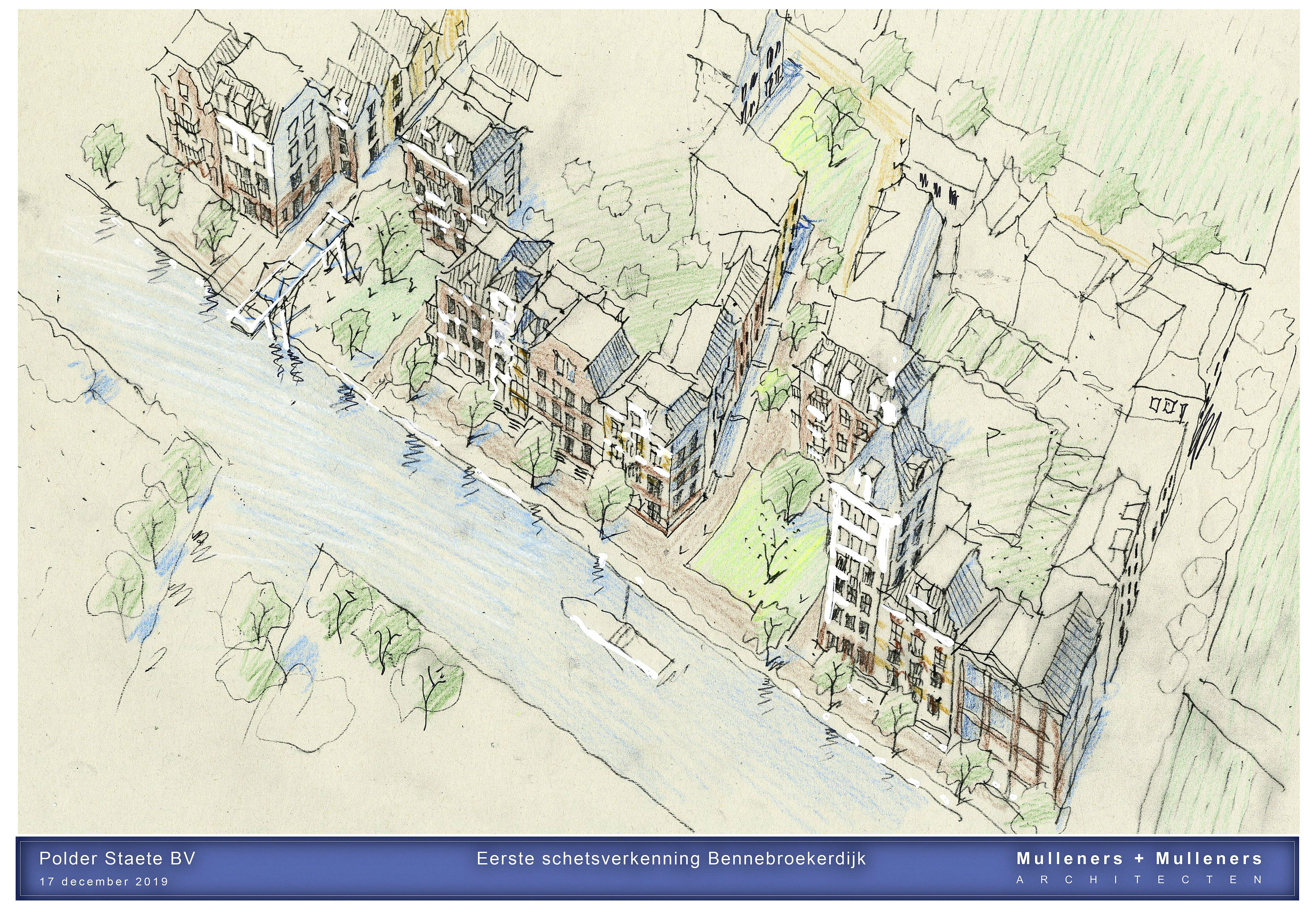 Grote wijk met honderden woningen aan Ringdijk bij Cruquius