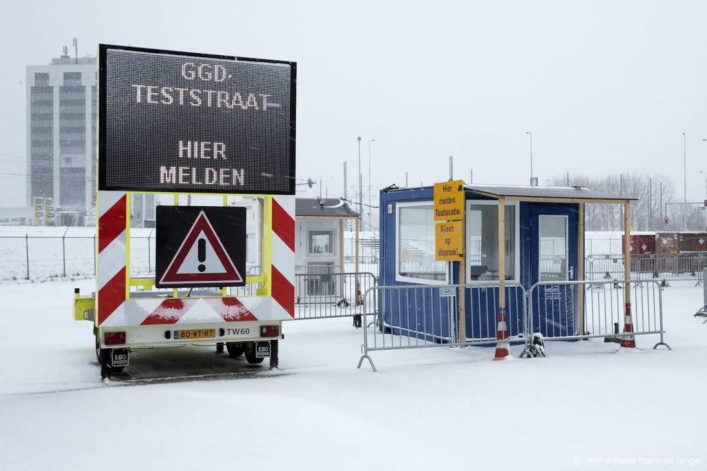 Vaccinatie- en testlocaties maandagochtend dicht wegens weeralarm