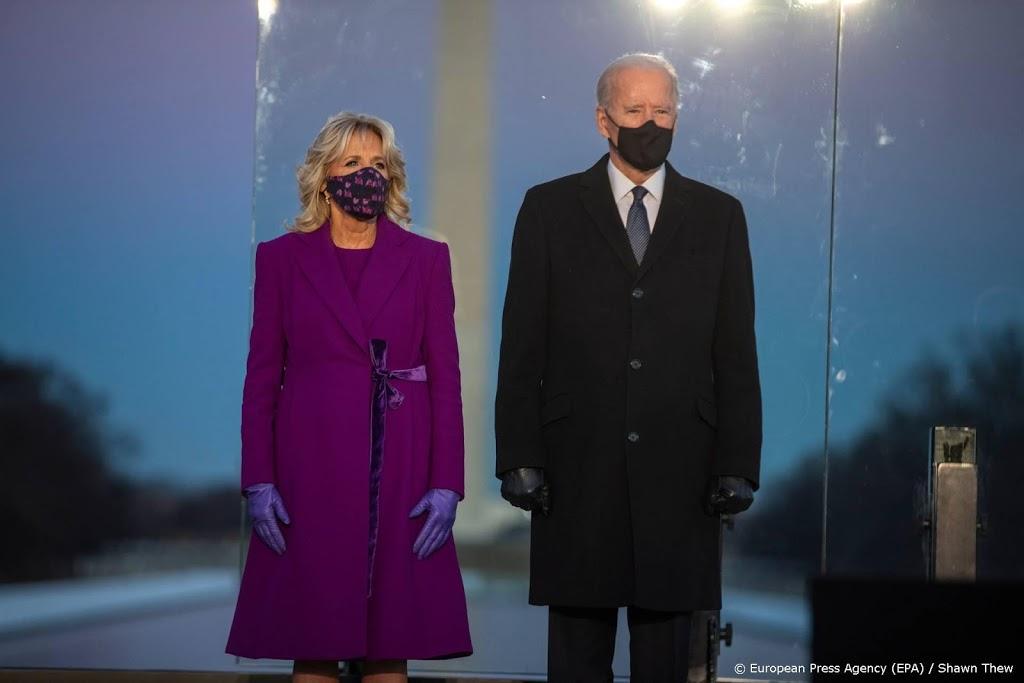 Biden gedenkt coronadoden VS op vooravond van inauguratie