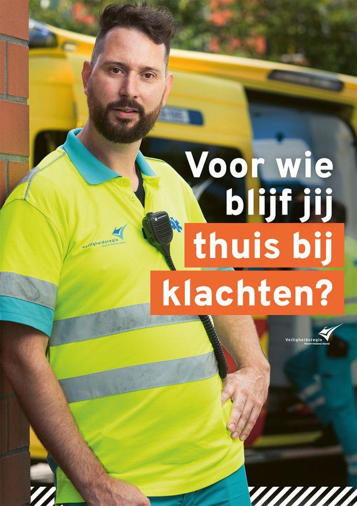 Nieuwe campagne Veiligheidsregio Noord-Holland Noord: 'Voor wie blijf jij thuis met klachten?'