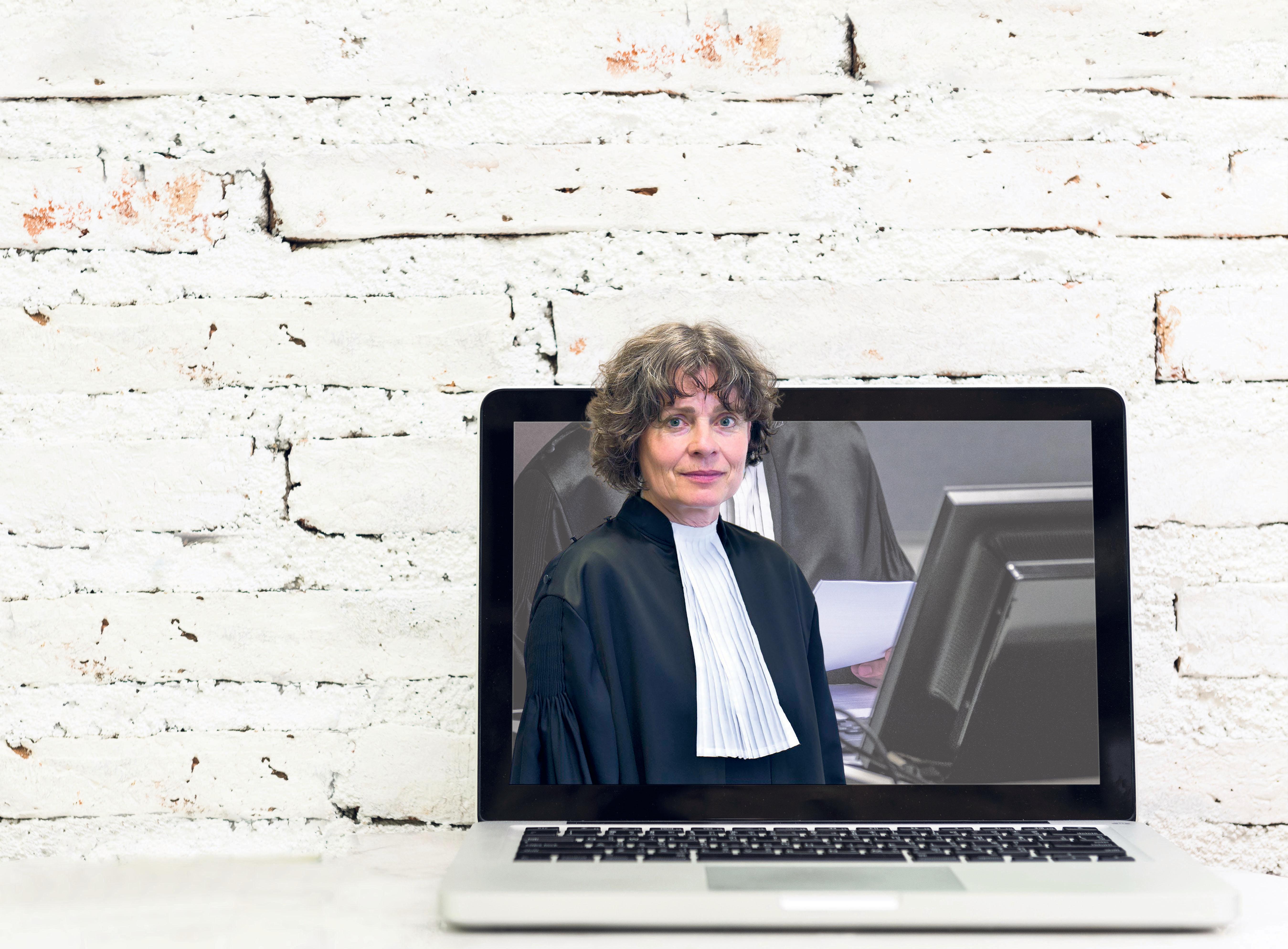 Digitaal rechtspreken zal voor een deel blijvertje zijn, ondanks aanloopproblemen, zegt rechtbankpresident Eveline de Greeve