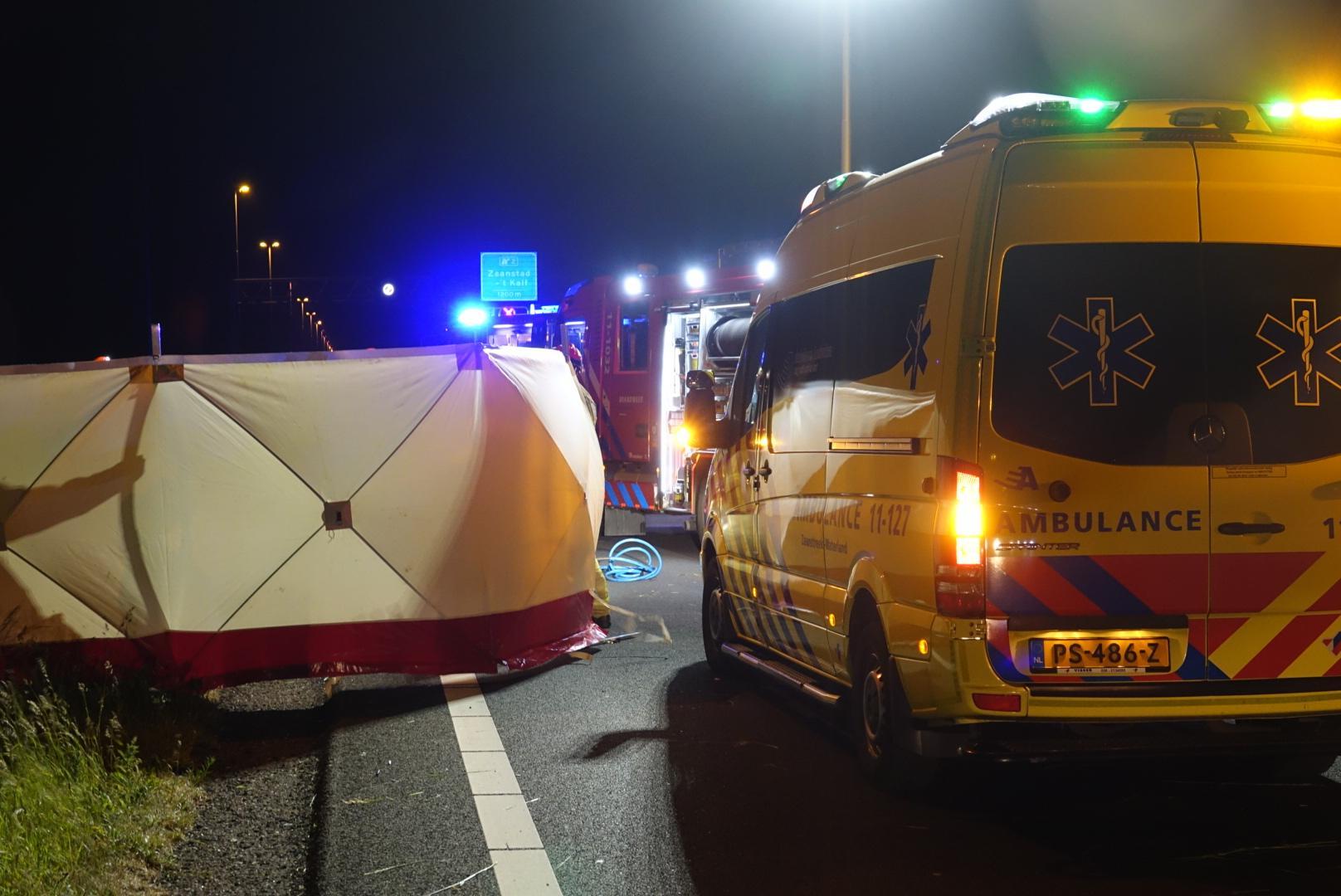 A7 uren afgesloten door dodelijk ongeval ter hoogte van Wijdewormer [update]