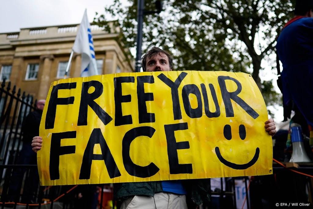 Arrestaties bij demonstraties in Londen tegen coronamaatregelen
