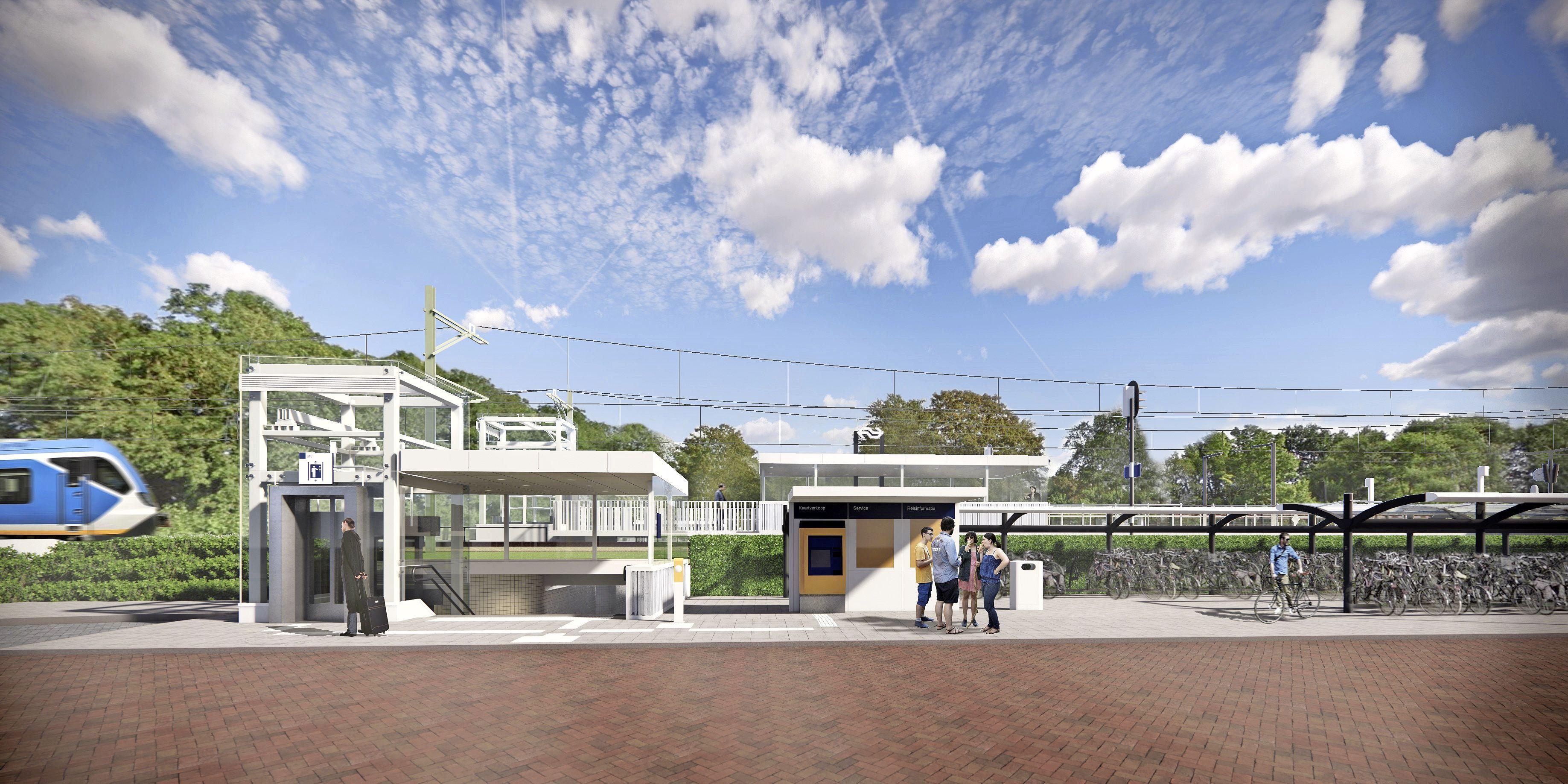 Grote verbouwing station Driehuis: in april een weekend geen treinen