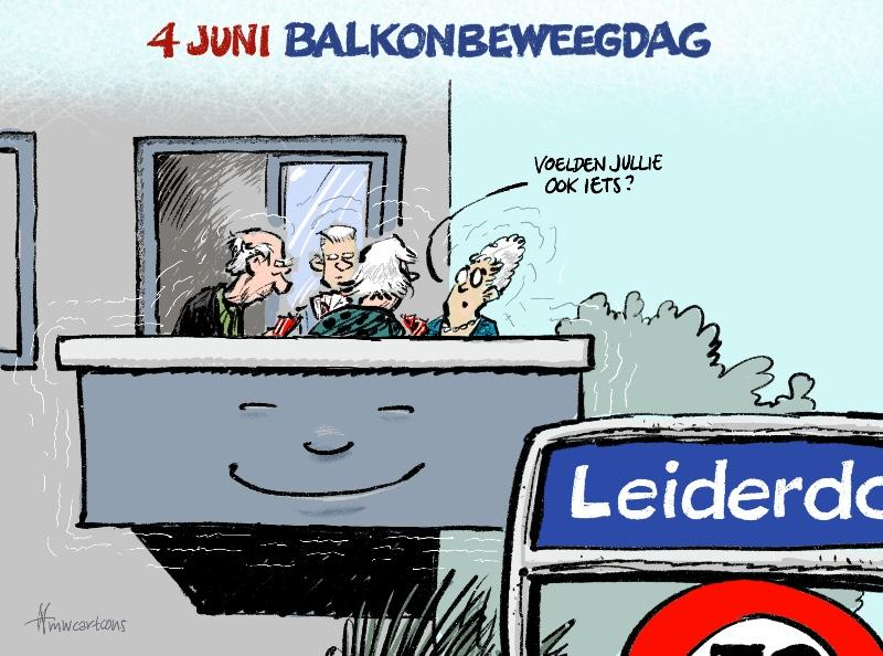 Cartoon: Balkonbeweegdag