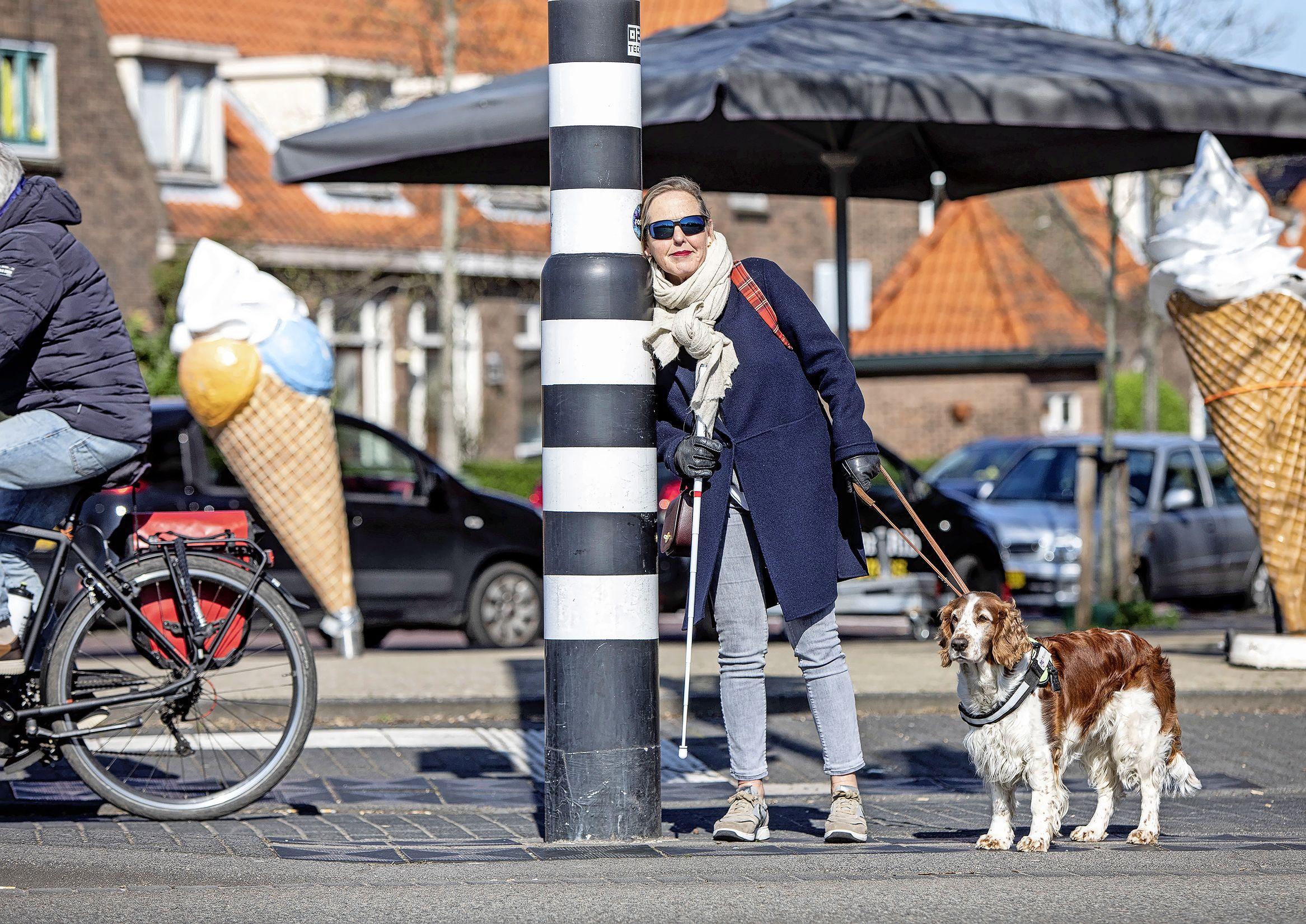 Slechtziende Truus pleit voor rateltikkers bij alle oversteekplekken in Haarlem: 'Moet het echt een keer enorm misgaan voordat de gemeente wakker wordt?'