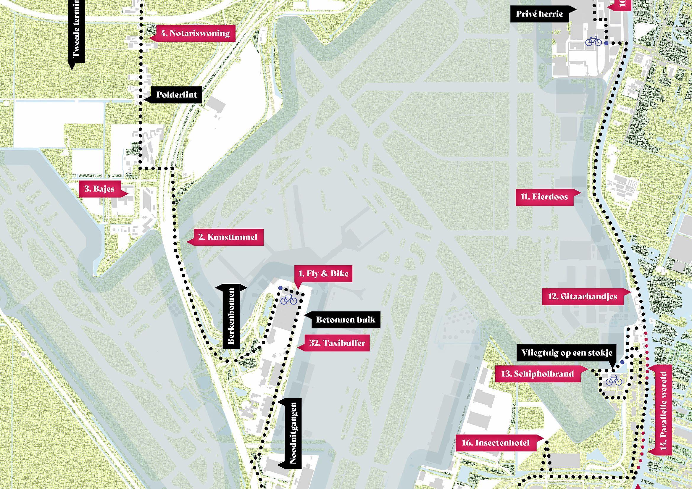 Luchthaven verkennen op de fiets met speciale route rond Schiphol