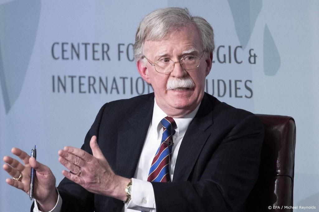 Justitie VS schrapt onderzoek naar oud-veiligheidsadviseur Bolton