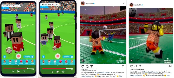 'Het filmpje van Ruud Gullit ging als een jekko, dit is de TikTok voor sportwedstrijden' - voetbal als entertainment in een app