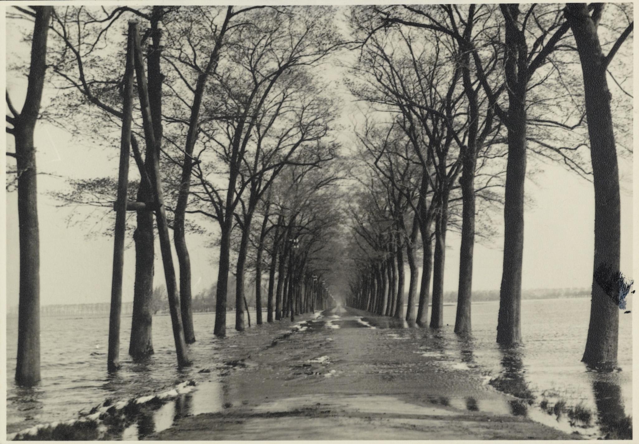 De Beemster en de Zeevang onder water in de oorlogsjaren; de sluizen open om de Duitsers te hinderen