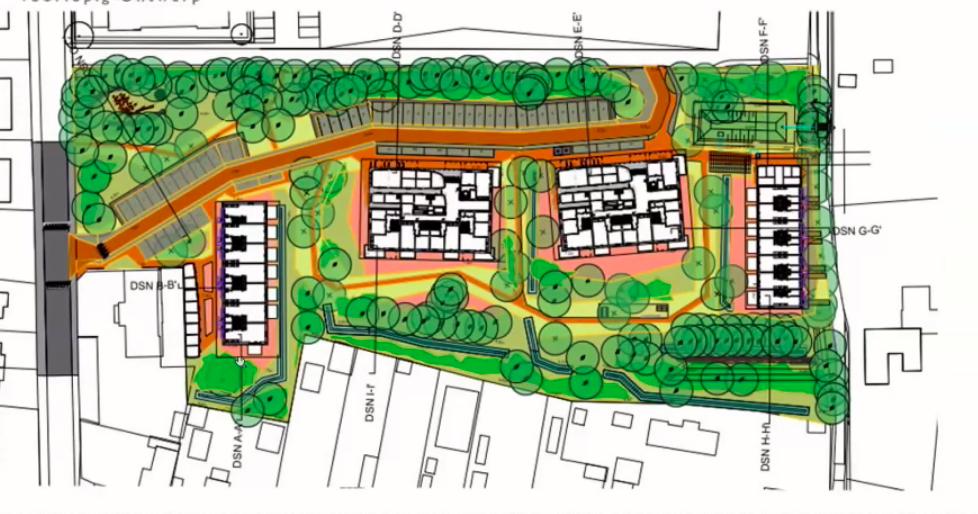 De Alliantie komt met 'maximaal' bouwplan met 56 woningen aan de voet van de Soester Eng; 'Meer past echt niet, als je rekening wil houden met bomen en eisen van omwonenden'