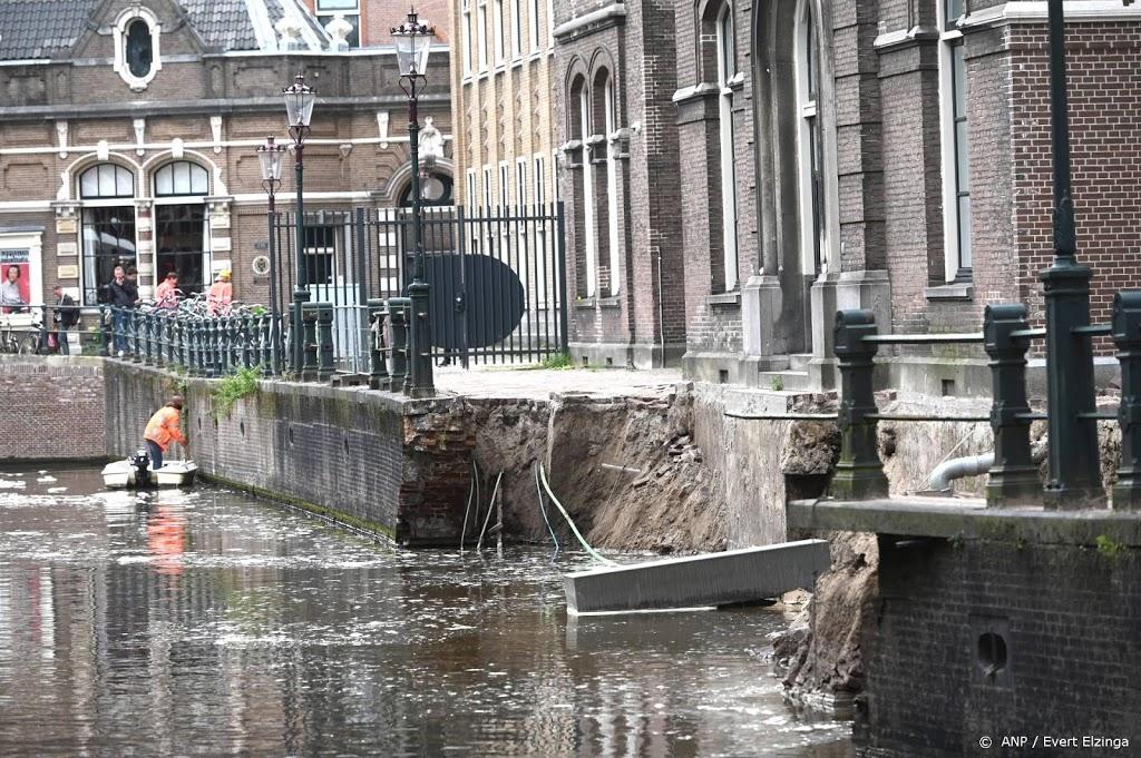 Kade Amsterdam mogelijk ingestort door overbelasting en boten