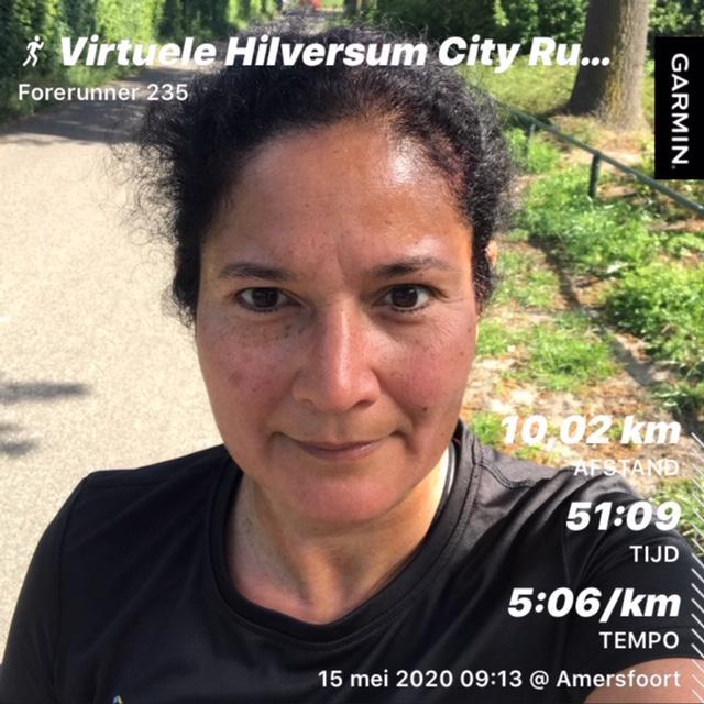 Eerste virtuele variant Hilversum City Run met zo'n 750 deelnemers een succes, zelfs in Denver, Colorado wordt gelopen [fotoverslag]