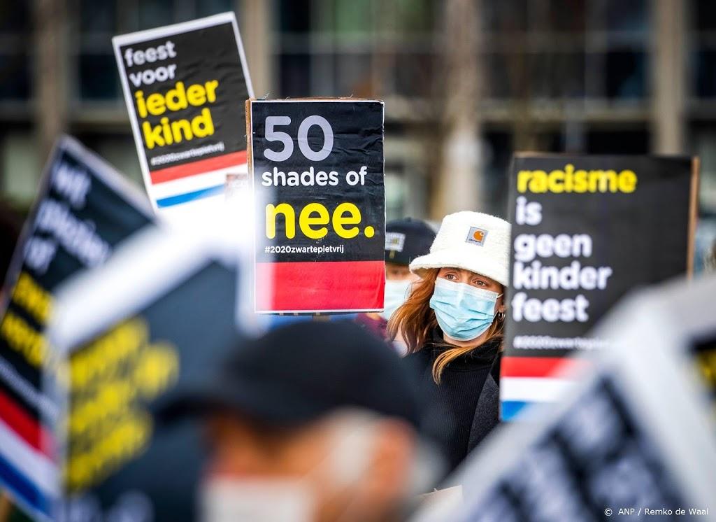 Tientallen betogers bij actie tegen Zwarte Piet in Breda
