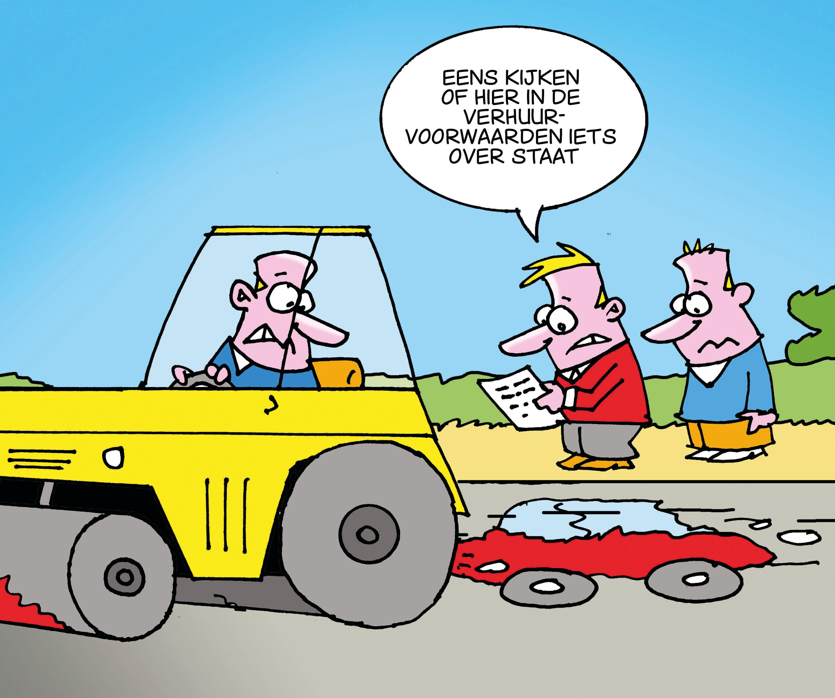 Wie betaalt de schade aan de huurauto van Jan Meijs? Hijzelf