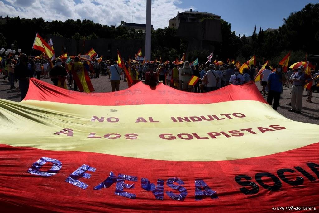 Grote betoging in Madrid tegen pardon voor Catalanen