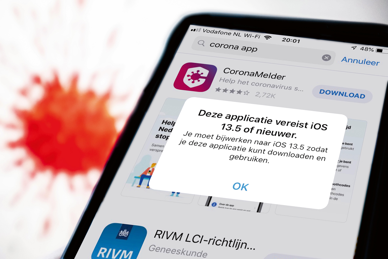 Corona-app downloaden? Jammer, je smartphone is te oud