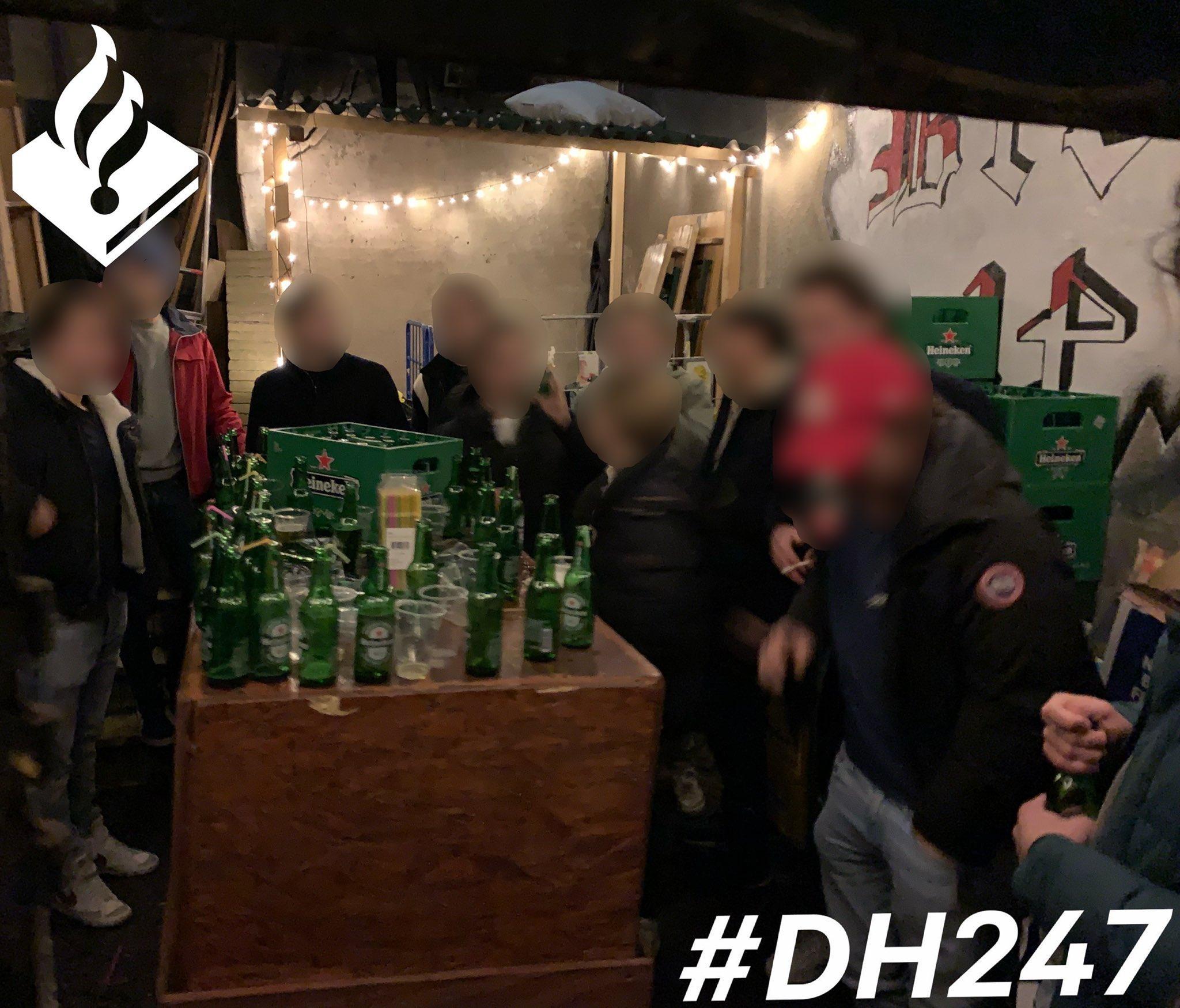 Politie Leiden deelt boetes uit bij schouder-aan-schouderfeesten