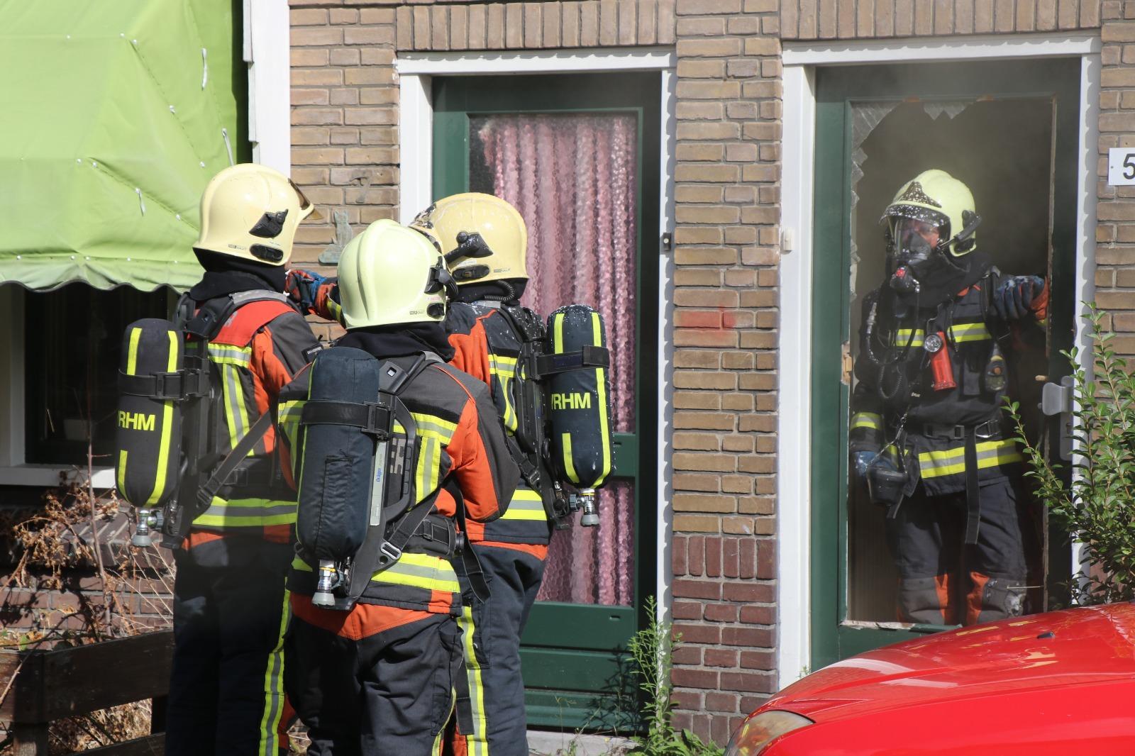 Brand in leegstaande woning in Rijnsburg