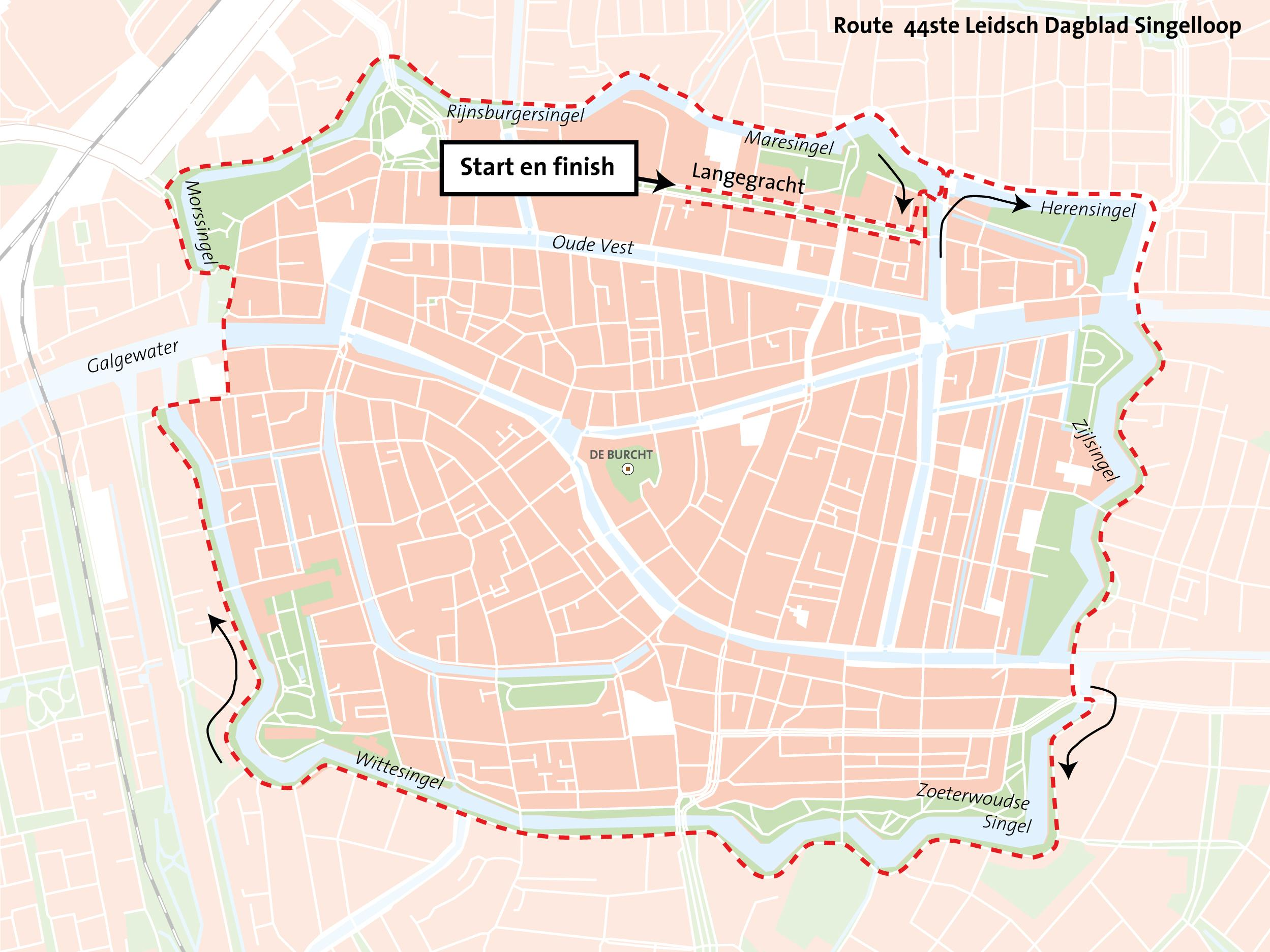 Update: 44ste Leidsch Dagblad Singelloop verwacht rond de 5500 deelnemers