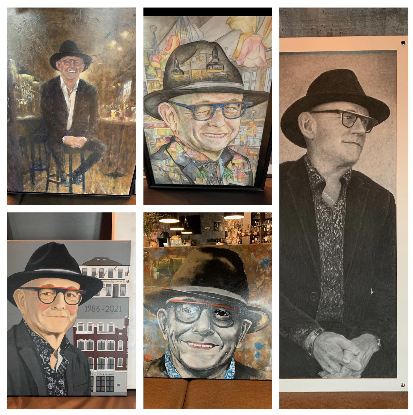 Purmerendse versie 'Sterren op het doek', restauranteigenaar Frans Spijkerman is eerste geportretteerde