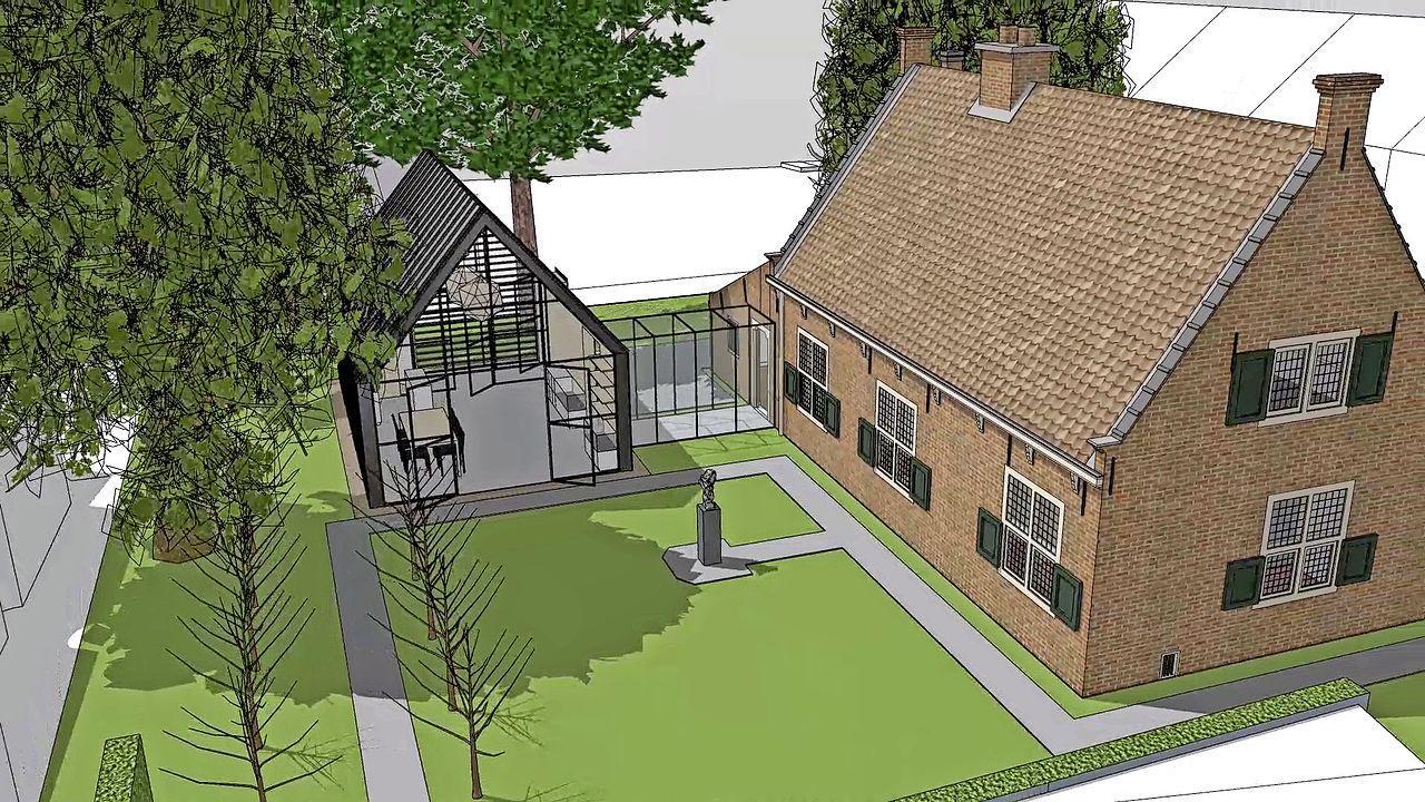 Spinozahuis in Rijnsburg wil uitbreiden met entreegebouw: 'Je staat nu gelijk met je natte jas en paraplu in het museum'