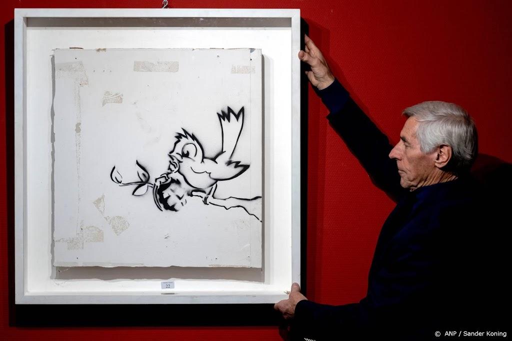 Kunstwerk Banksy brengt 170.000 euro op bij veiling Zwolle
