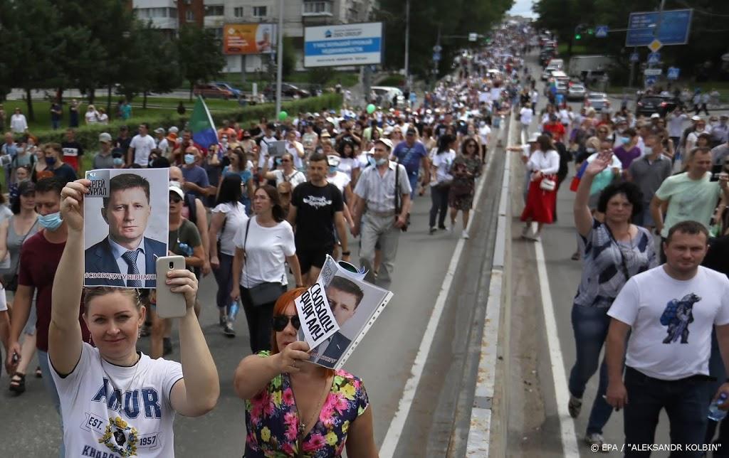 Weer demonstraties tegen Poetin in Oost-Rusland
