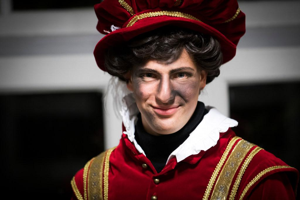 Lichtere Piet mét roetvegen in Haarlem