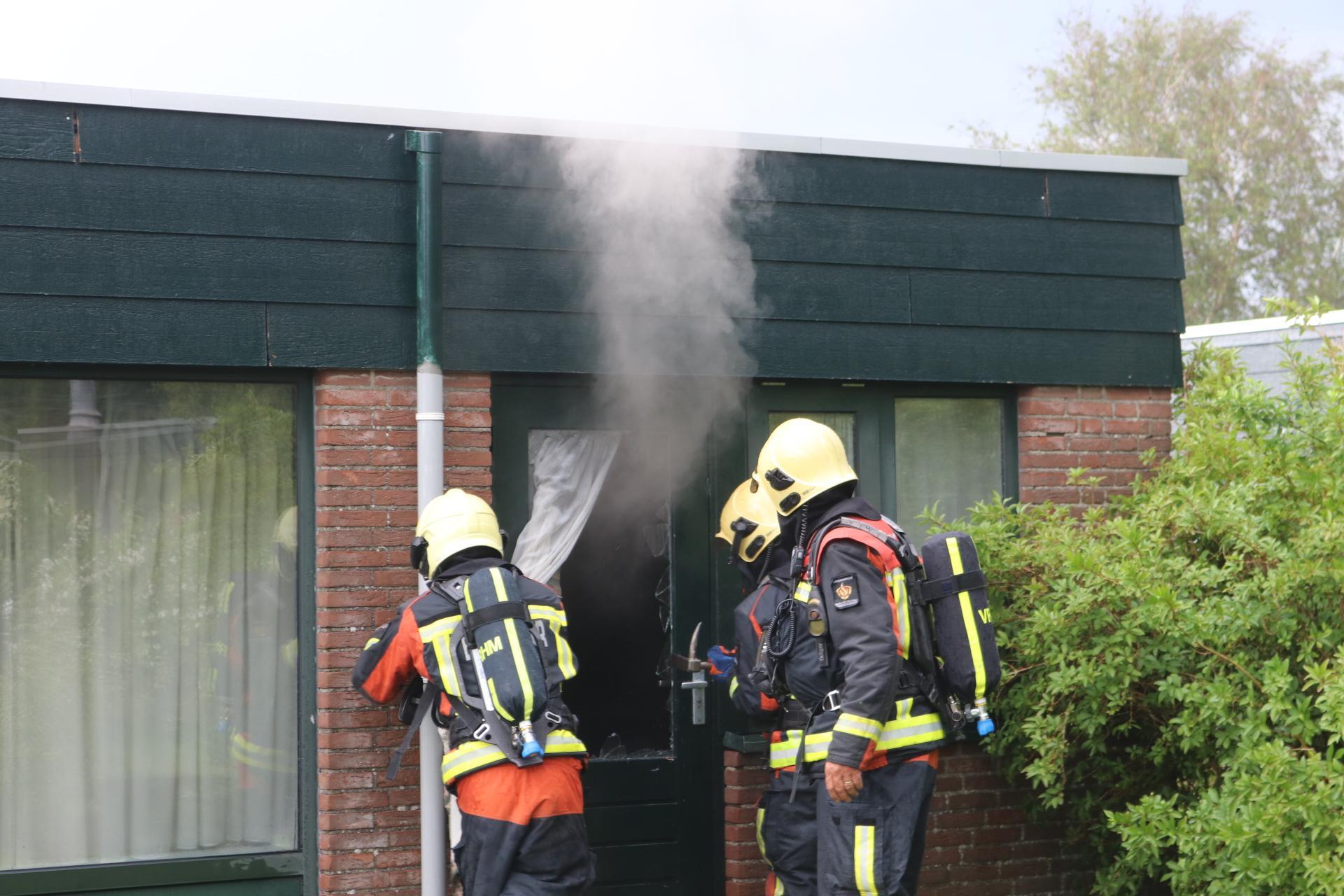 Wasmachine van bungalowpark Sollasi vat vlam door blikseminslag in Noordwijkerhout