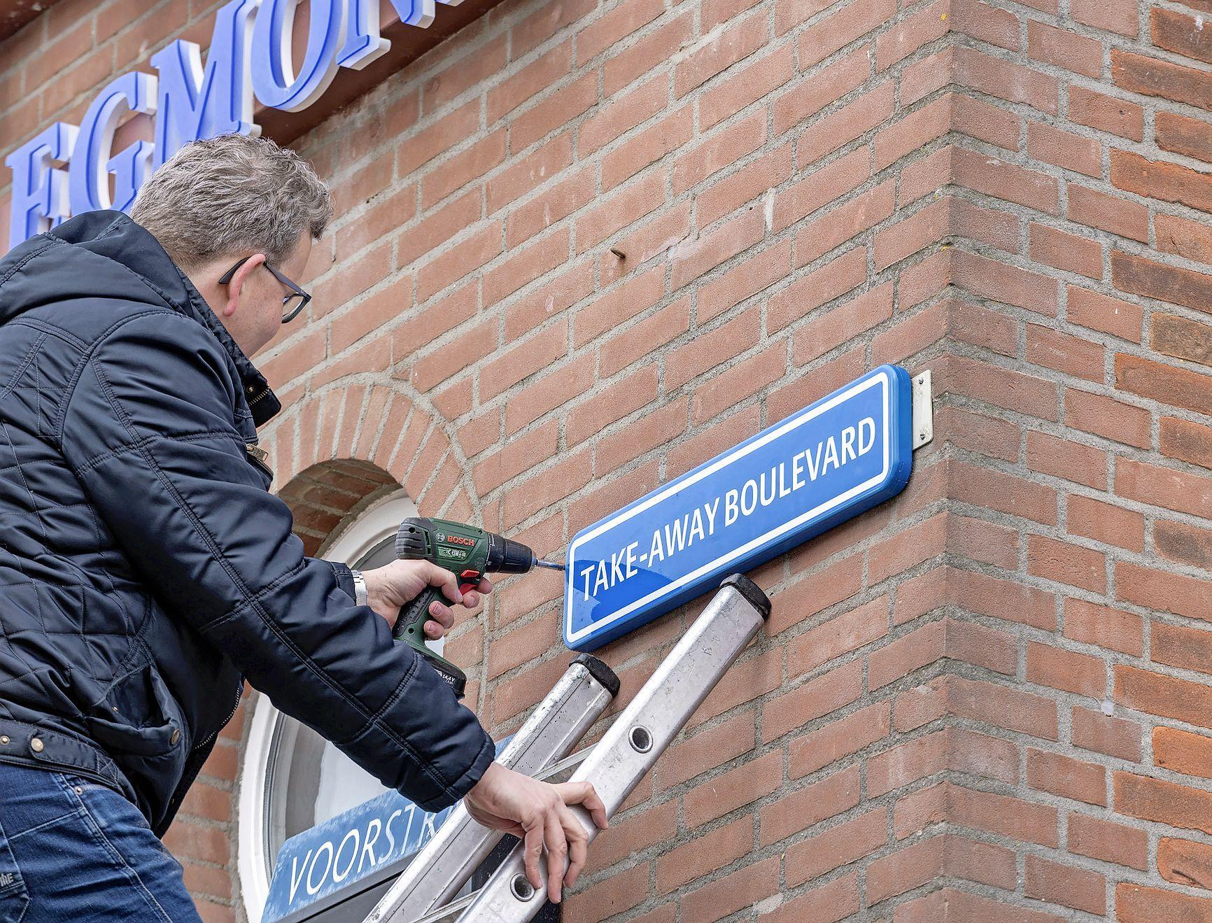 De Voorstraat in Egmond aan Zee is weg, vanaf nu is iedereen welkom op Take-Away Boulevard: 'We moeten met z'n allen geweldig positief blijven'