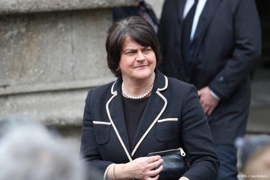 Regeringsleider Noord-Ierland kondigt vertrek aan